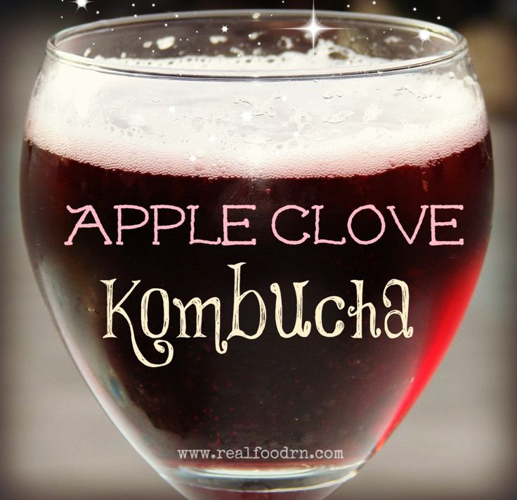 Apple Clove Kombucha, how to brew your own at home. A tasty, healthy, probiotic beverage that is naturally carbonated. #realfoodrn