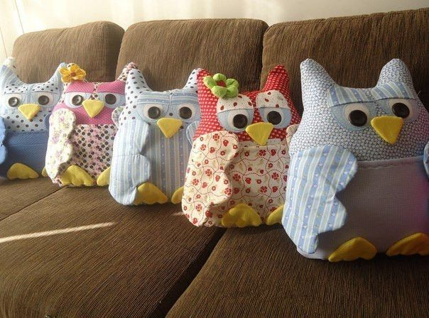 Creative Ideas - DIY Cute Fabric Owl Ornaments with Free Pattern | iCreativeIdeas.com Follow Us on Facebook --> https://www.facebook.com/iCreativeIdeas