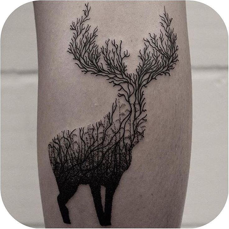 Tree Buck made by @whitingtattoos