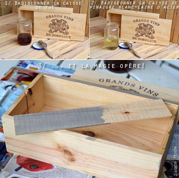 Blog Mode Lyon | Sauce Mode: DIY : Vieillir le bois en un temps record!c,est tout simplement magique ;-)