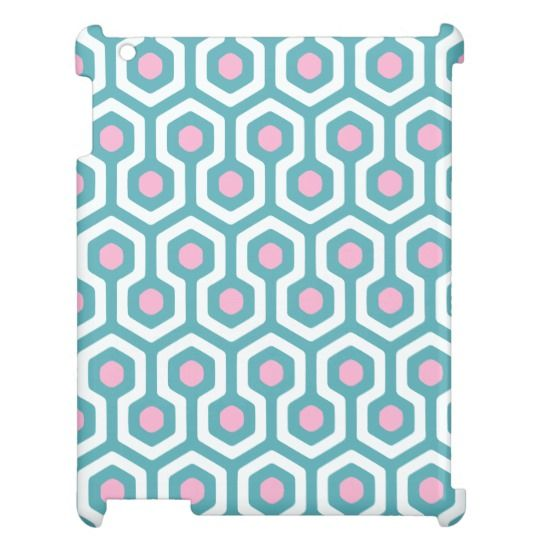 Abstract Geometric Beehive Pattern Cover For The iPad