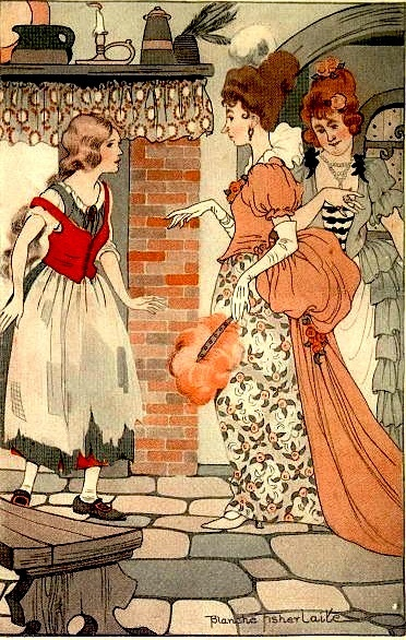 """You are quite right,"" they replied. ""It would make the people laugh to see a Cinderwench at a ball.""  Cinderella - Blanche Fisher Wright"