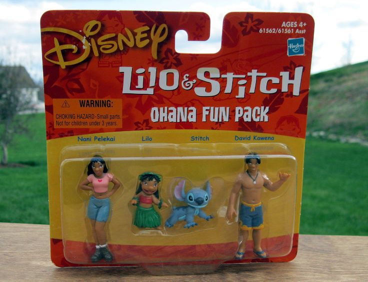 Disney Lilo & Stitch OHANA FUN PACK Figure Set - RARE ...