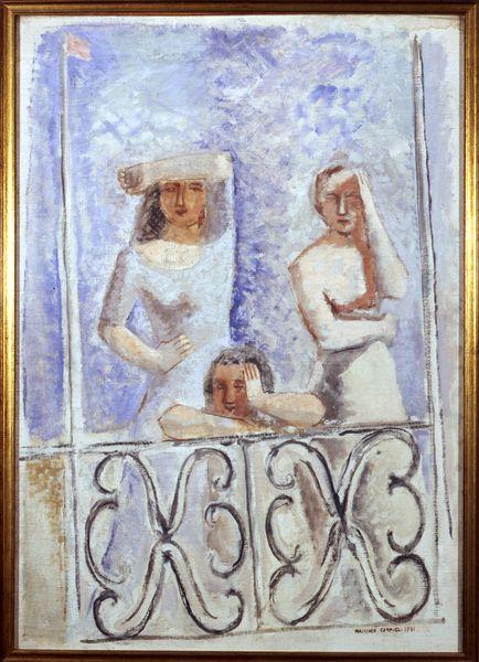Donne Salutanti, 1931 by Massimo Campigli (Italian 1895 - 1971)