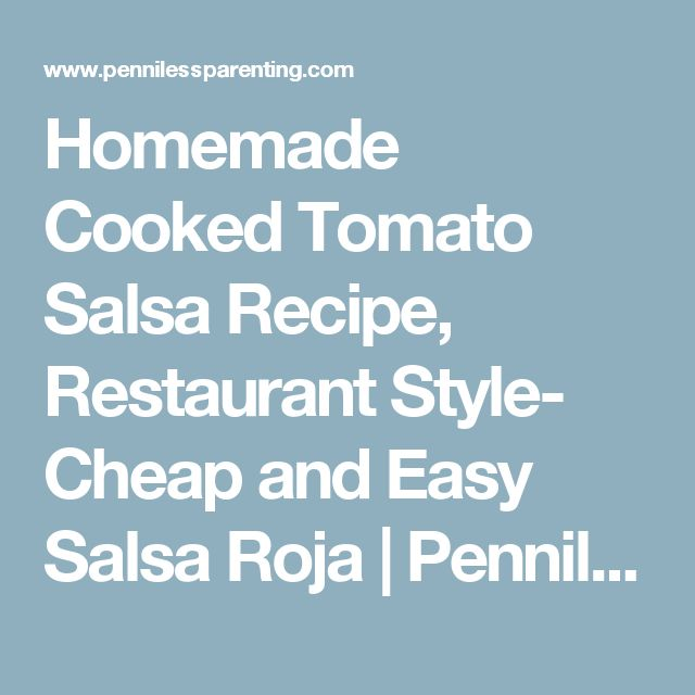 Easy cooked tomato salsa recipes