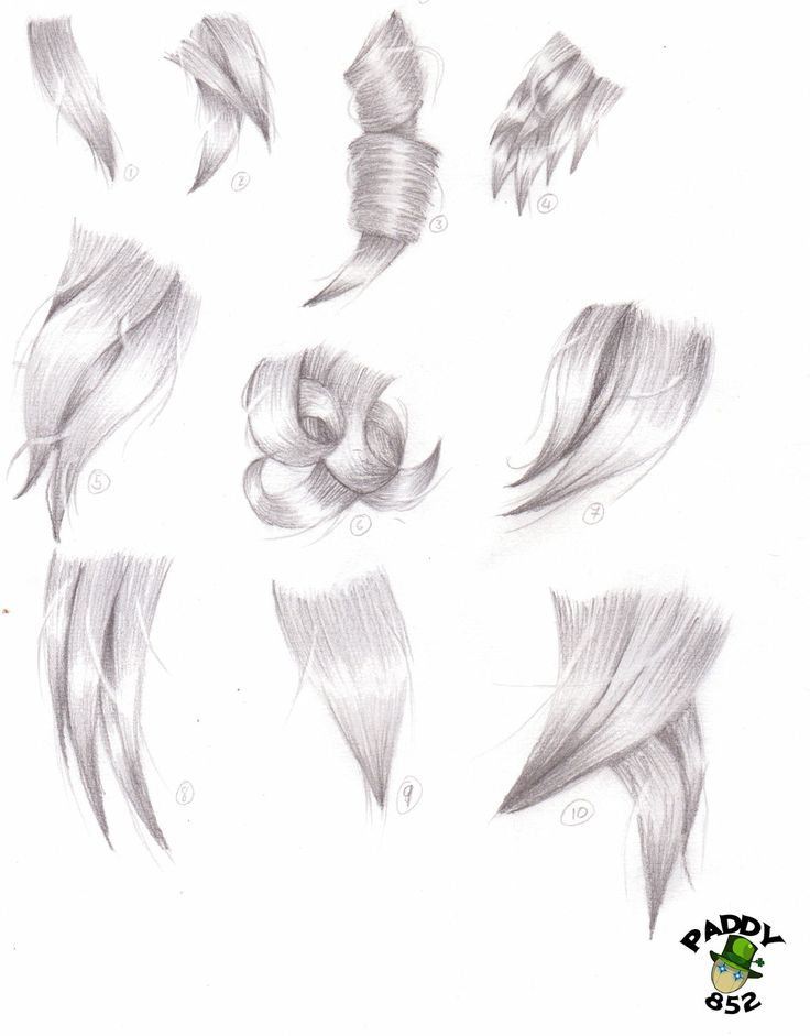 Hair study by paddy852.deviantart.com