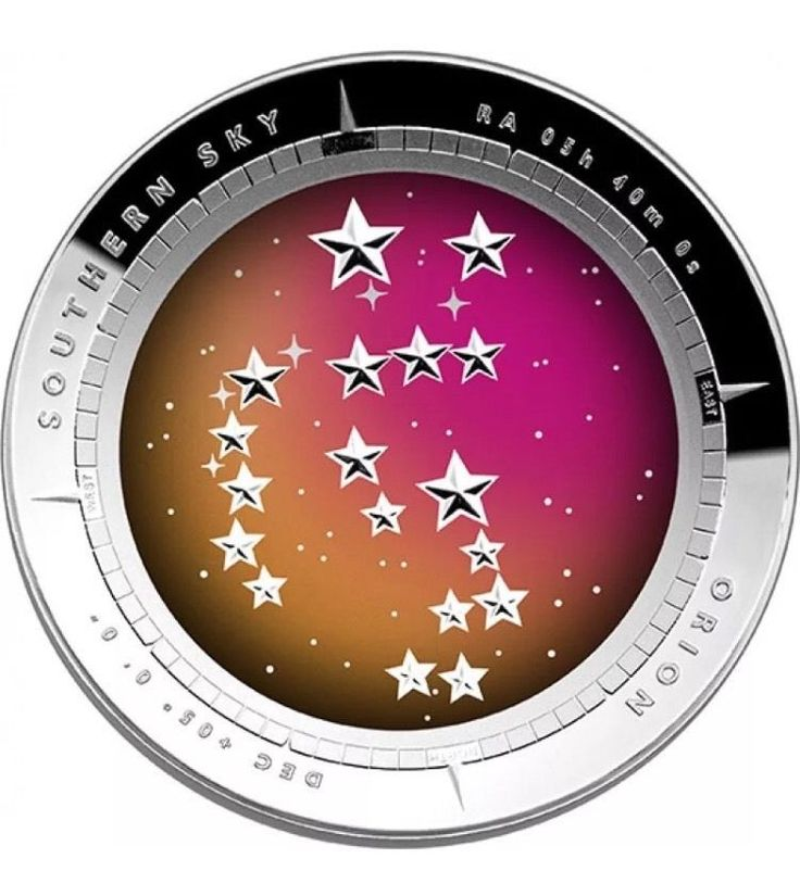 2014 Australia Southern Sky Orion 1 Oz Silver Proof Colored Domed $5 Coin | eBay