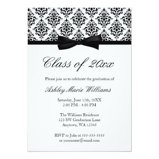 Best Elegant Graduation Invitations Images On