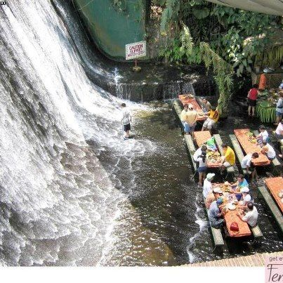 Waterfalls restaurant in Villa Escudero Resort Set right at the foot of Labasin Falls, Quezon City Philippines