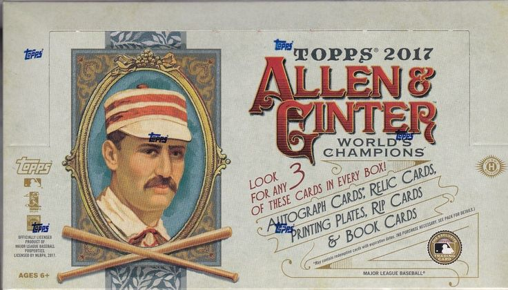 Baseball Cards 213: 2017 Topps Allen And Ginter Baseball Factory Sealed Hobby Box 3 Hits Per Box -> BUY IT NOW ONLY: $105 on eBay!