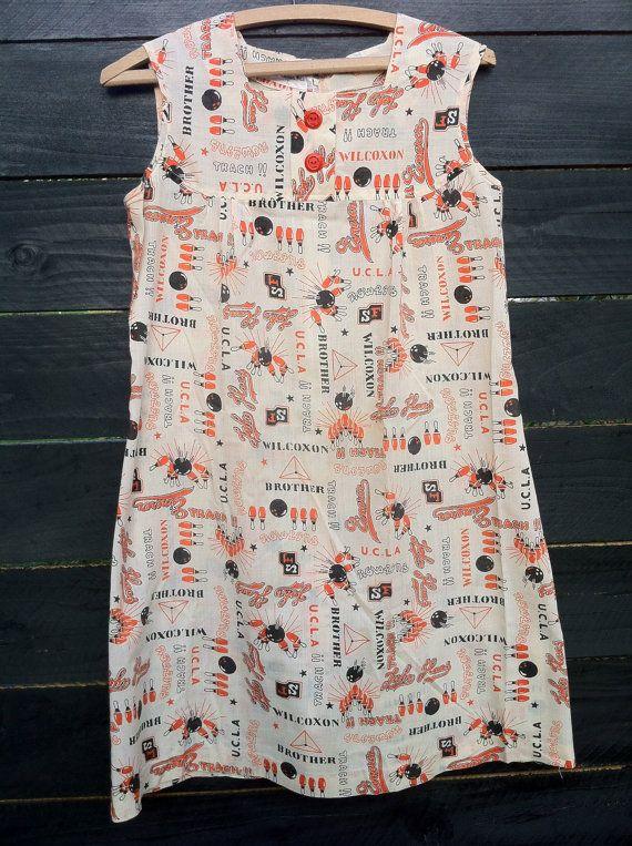 Vintage Mini Dress. Bowling UCLA