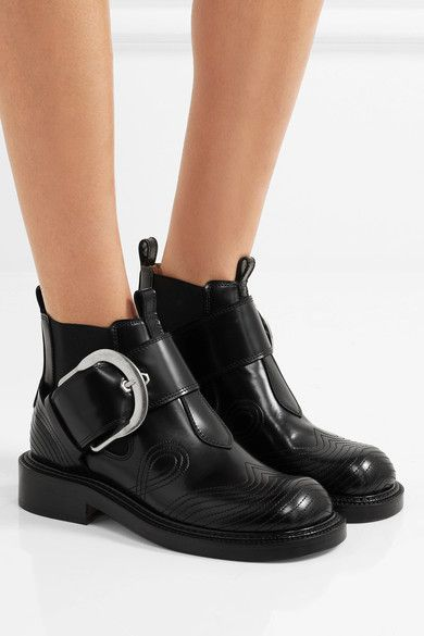 Heel measures approximately 35mm/ 1.5 inches Black leather Buckle-fastening strap Made in Italy