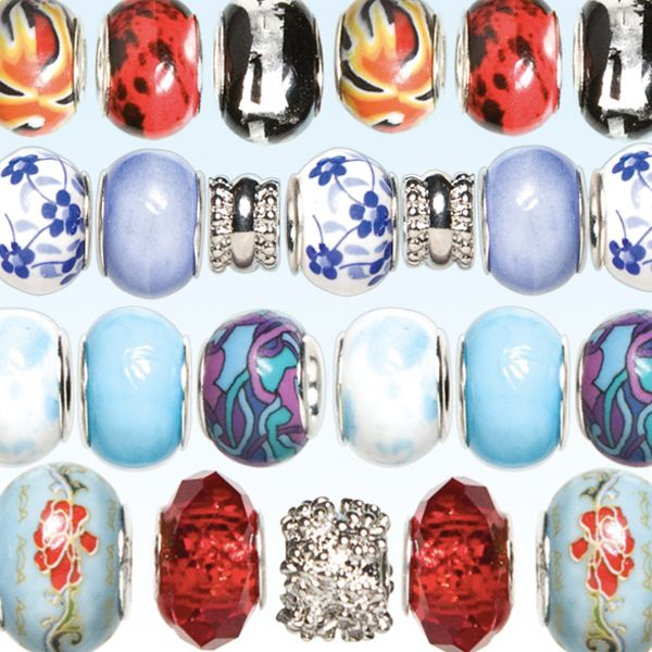 Look what I found on #blitsy! Cousin Trinkettes Glass, Metal, and Clay Beads #blitsybuys