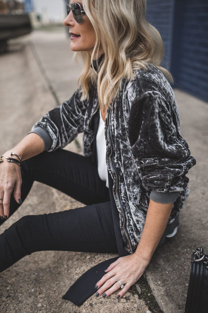 Velvet Bomber Jacket / Free People Velvet Bomber Jacket