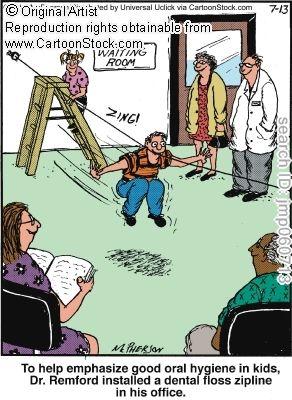 Oral hygiene related comic. John McPherson.