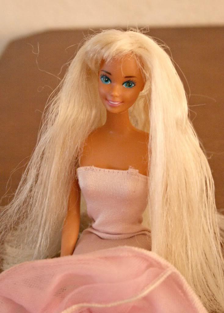 diy home sweet home: Barbie Hair Fix. fabric softener!