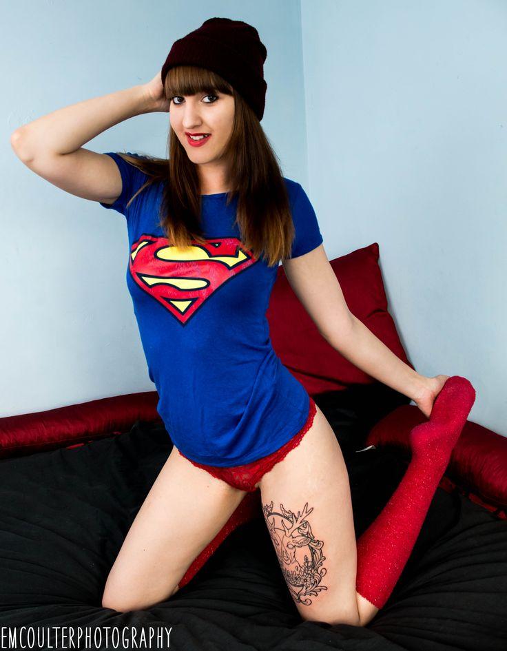 Superwoman. Photo shoot with Em