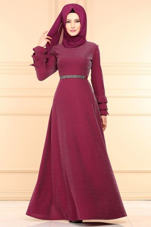 Modaselvim Elbise Kolu Firfirli Elbise 594 L263 Sarabi