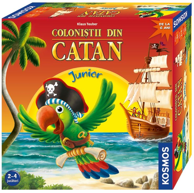 """Colonistii din Catan - Junior - Kosmos -  - Cine nu a auzit inca de """"Colonistii din Catan""""? Pana acum acest joc a fost disponibil pentru jucatori cu"""