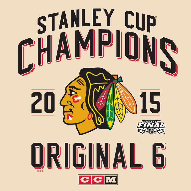 Chicago Blackhawks Original 6 Stanley Cup Champions 2015