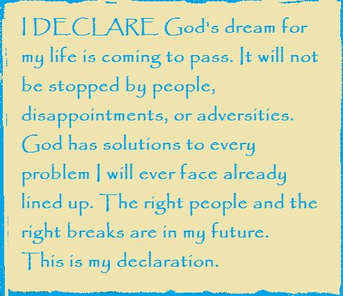 Image result for declarations over your life