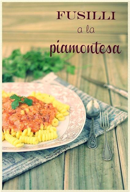 Fusilli a la Piamontesa, so easy to make for #dinner! #food #recipes #pasta
