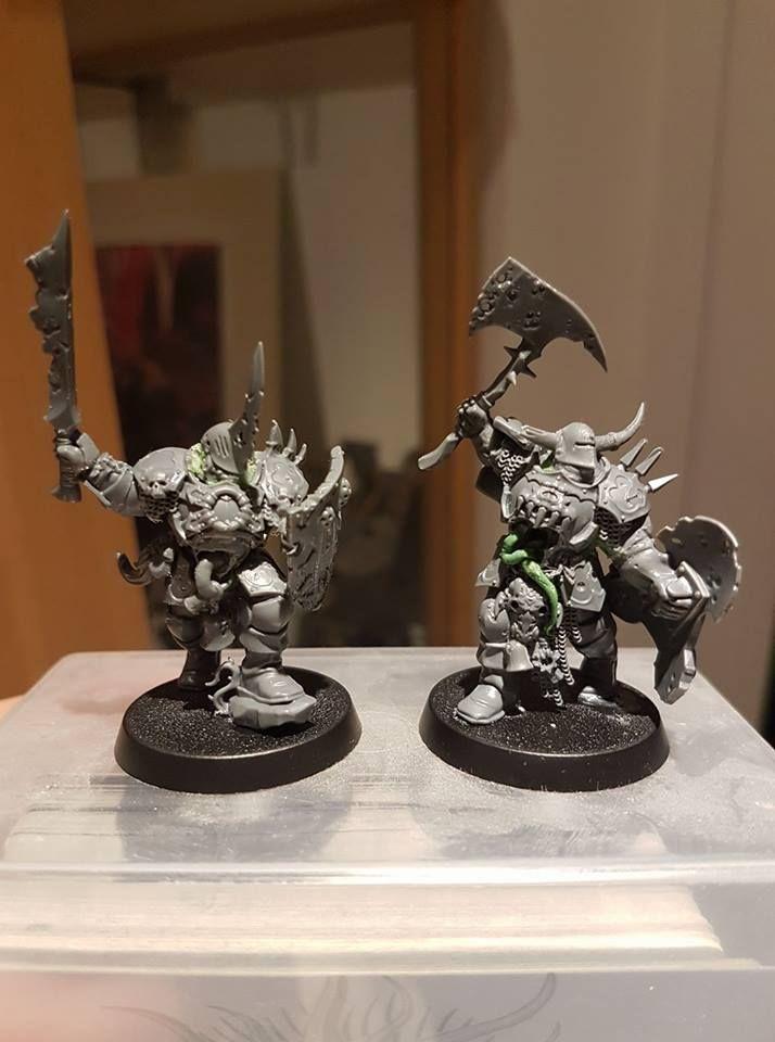 Warhammer Age of Sigmar | Nurgle Rotbringers | Nurgle Chaos Warriors Conversion - converted blood warriors #warhammer #ageofsigmar #aos #sigmar #wh #whfb #gw #gamesworkshop #wellofeternity #miniatures #wargaming #hobby #fantasy