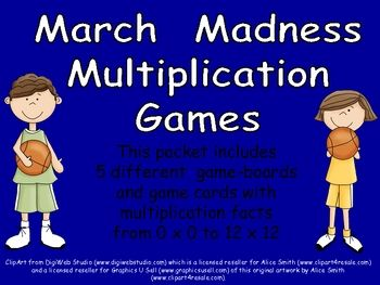 Fun Multiplication games for March Madness!! Let the March Mathness begin!!!