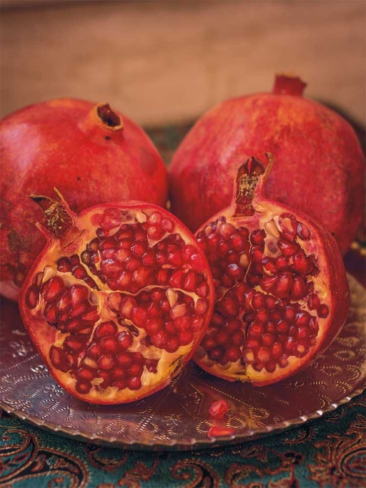 Fresh pomegranates. Photo from the recently released Jewels of Persia Cookbook. Available Now! https://www.amazon.com/Jewels-Persia-Exotic-Dishes-Ancient/dp/0995407908. #pomegranates, #persian cookbooks, #persian recipes