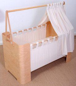 Babybett, Beistellbett, Kinderbett & Schreibtisch 4 in 1 Kombiwunder in Natur - timkid