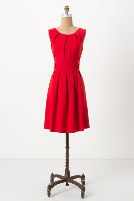 crimson ponte dress // made in kind
