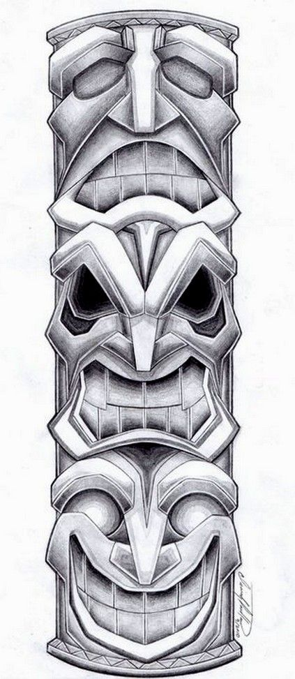 Totem Pole Tattoo Design by SpiderLAW.deviantart.com on @deviantART