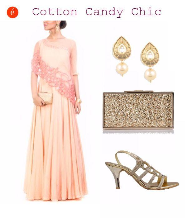 Dressing for a best friend's wedding. #plush #pink #ethnic #glamorous #bestfriendswedding