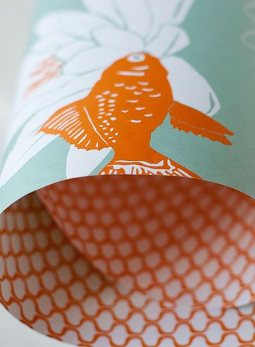 koi wrapping paper