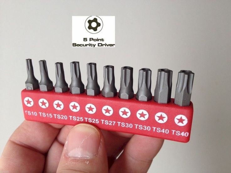 5 Point Star Security TORX PLUS Insert Bit Set with Mini-Ratchet #FT