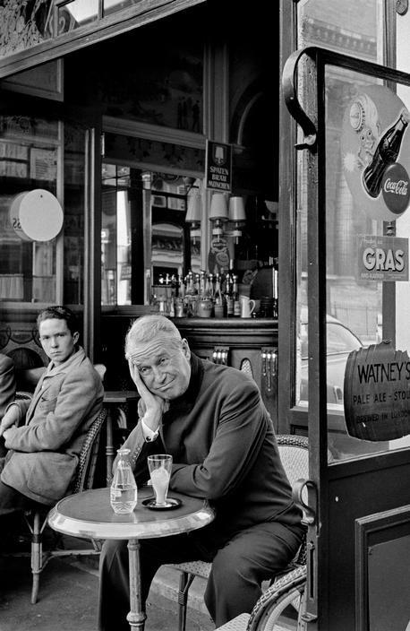"Paris 1954. ""French singer and actor Maurice CHEVALIER"" www.deniebernier.com"