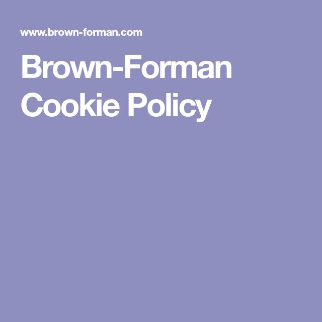Brown-Forman Cookie Policy