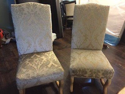 kreiss new damask upholstery chair pair each furniture