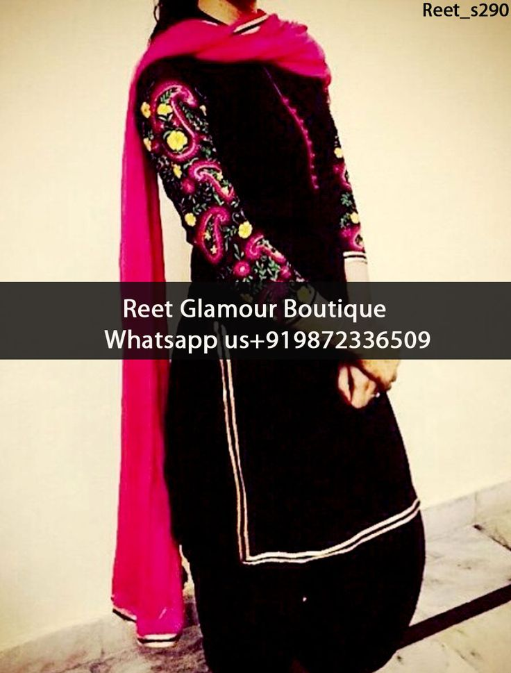 Gorgeous Black And Magenta Embroidered Punjabi Suit Product Code : Reet_s290 To Order, Call/Whats app On +919872336509 We Offer Huge Variety Of Punjabi Suits, Anarkali Suits, Lehenga Choli, Bridal Suits,Sari, Gowns Etc .We Can Also Design Any Suit Of Your Own Design And Any Color Combination.