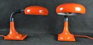 Interiors - Provenance Auction House: A Pair of Sangara Orange Table Lamps.