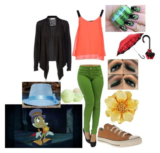"""Jiminy Cricket"" by betsy-murphy on Polyvore featuring Converse, Kenneth Jay Lane, ONLY, Rosemunde, Eos, women's clothing, women, female, woman and misses"