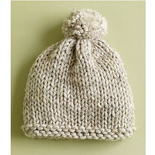 Super Bulky Knit Hat very easy knit on 2 needles quick to knit FREE PATTERN by Lion Brand via Ravelry