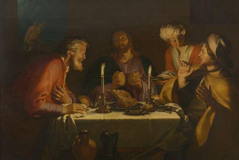 The disciples of Emmaus / Les disciples d'Emmaüs / Los discípulos de Emaús // 1622 // Abraham Bloemaert //  Musées royaux des Beaux-Arts de Belgique // #Jesus #Christ