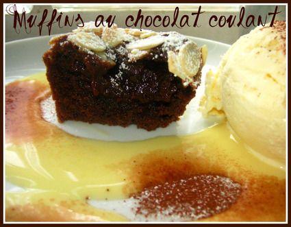 Muffins au chocolat coulant