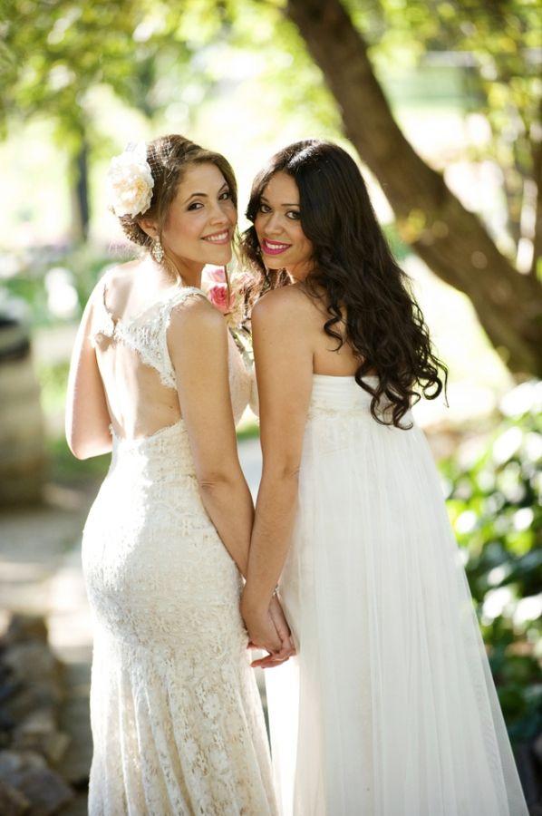 Backyard Malibu Wedding  Hayley & Johanny ...aren't they the most beautiful couple you've ever seen. Lesbian, gay, girls wedding