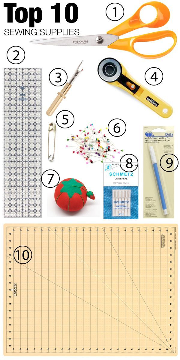 Top 10 Sewing Supplies for beginners. http://gotosew.com