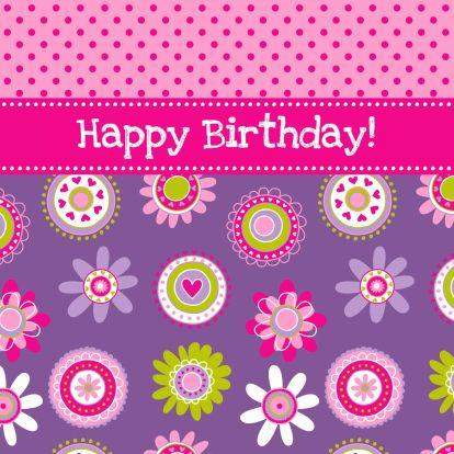 Bloemrijke paarse verjaardagskaart. Design Birthday Card / Verjaardagskaart by Dysyn www.kaartje2go.nl