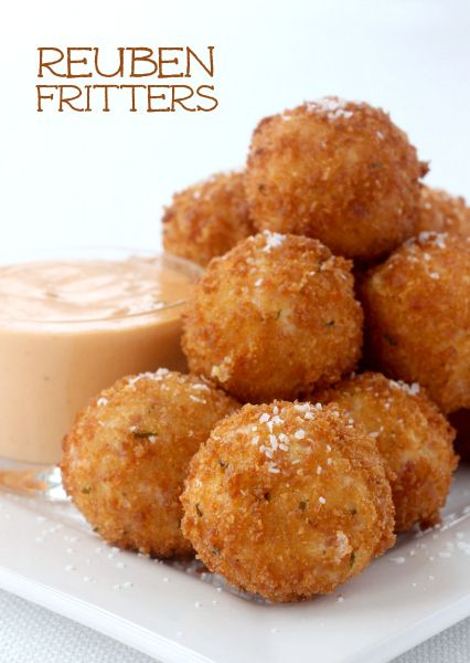 All the flavor of a reuben in a bite-sized fritter! Great way to use your leftover corned beef or just grab it from the deli!