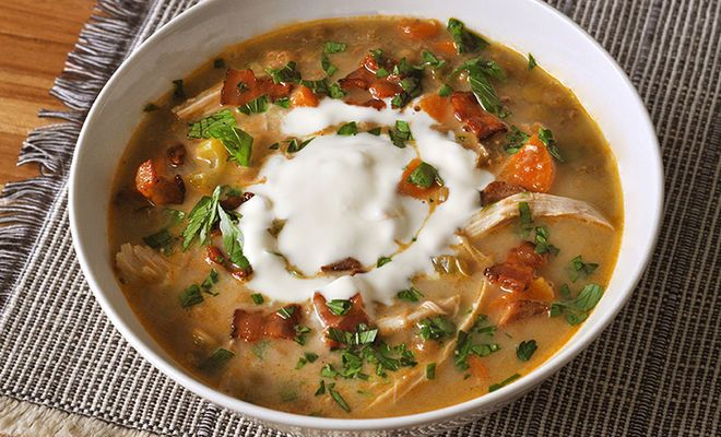 French Lentil Soup with Chicken Confit & Bacon Recipe | D'Artagnan