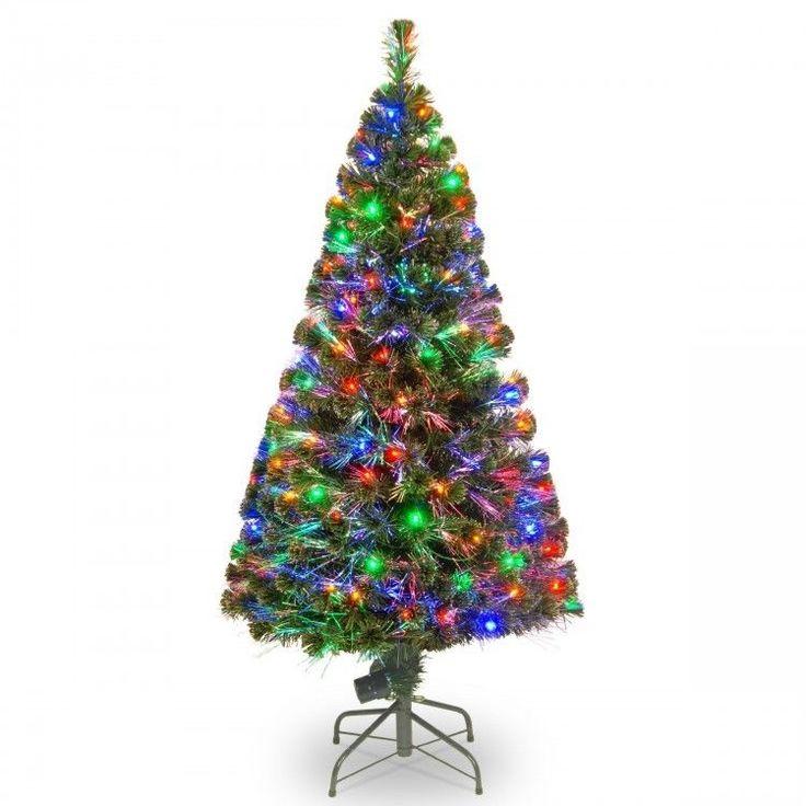 Superb Fiber Optic FT Christmas Tree Holiday Decoration Multi Lights w Stand New K nstliche Weihnachtsb umeImmergr ne